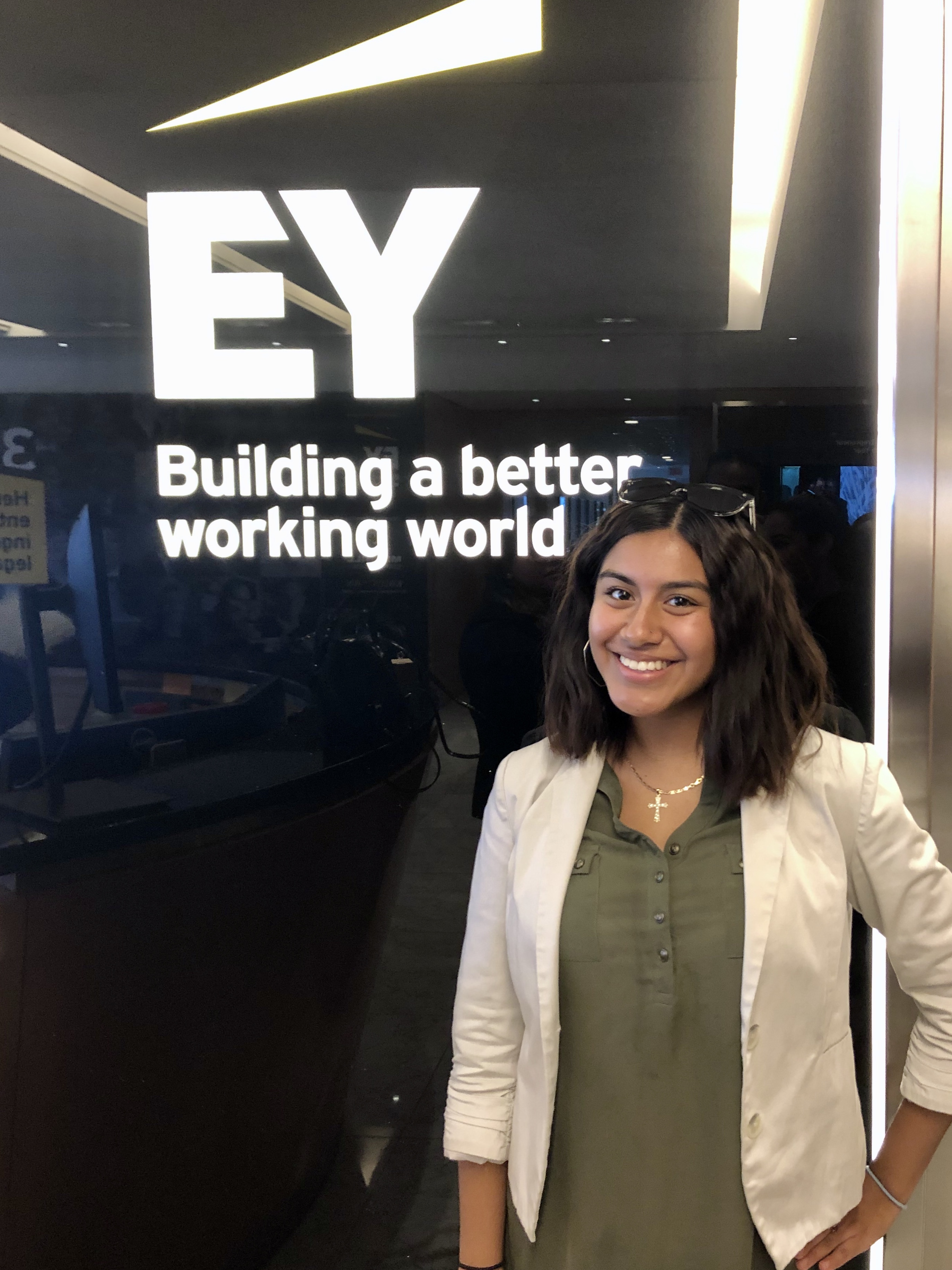 Julia Santos at EY Internship