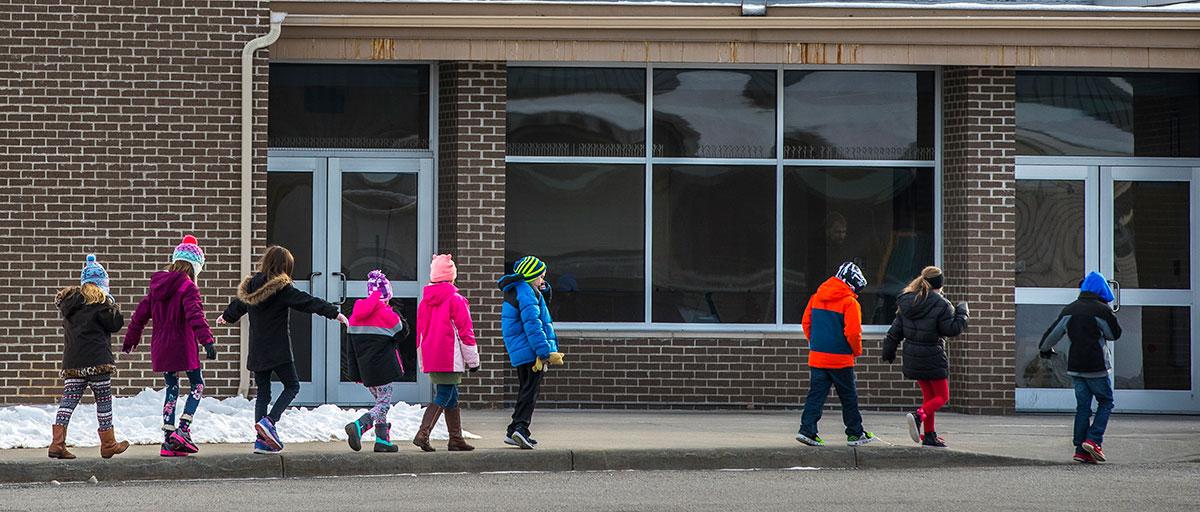 children entering schools